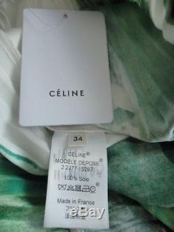 Nwt Celine Phoebe Philo Runway Spring 2014rtw Brushstroke Silk Skirt Fr 34 0 2 4