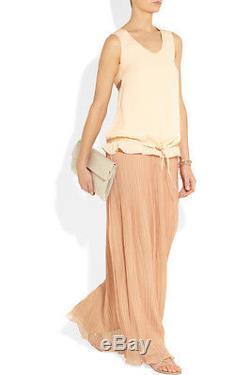 NWT CHLOE Plissé-Chiffon Maxi Skirt RETAIL $2310 EU 34 LONG Chloé POLYESTE WOMEN
