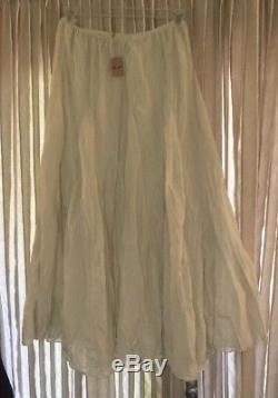 NWT Cp Shades Lily Maxi Skirt, Vanilla, Size Large L $230.00