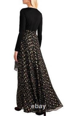 NWT Diane von Furstenberg DVF Aviva Contrast Skirt Wrap Maxi Dresssize 0$998