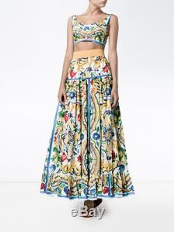 NWT Dolce&Gabbana Majolika Print Maxi Skirt 42/6