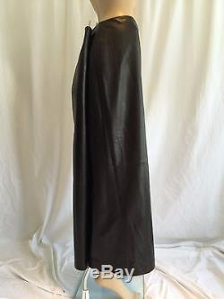 NWT Ellen Tracy Black Leather Skirt Full Long Maxi A-Line Plus Size 22 NEW $518