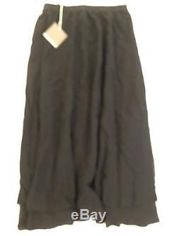 NWT Eskandar Neiman Marcus Wmns sz 2 Tiered Black Full A Line Maxi Skirt Md inUK
