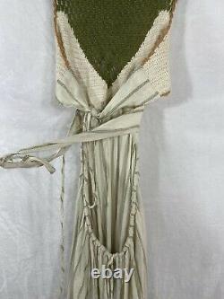 NWT Free People Harper Crochet Crop Top & Skirt Set Size L Crotchet Cutout