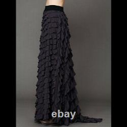 NWT Free People Lydia maxi skirt in Washed Black size XS SUPER RARE Retail $198
