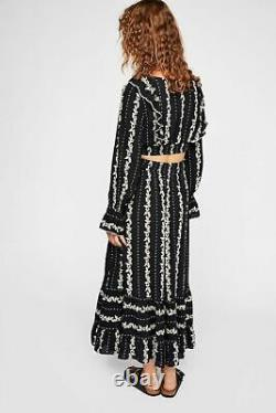 NWT Free People Size Small Lolita 2 pc Maxi Skirt Top Set