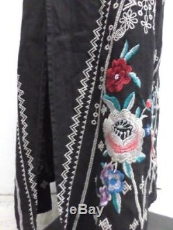 NWT Johnny Was JWLA Eliza Linen Maxi Skirt M OL11230618