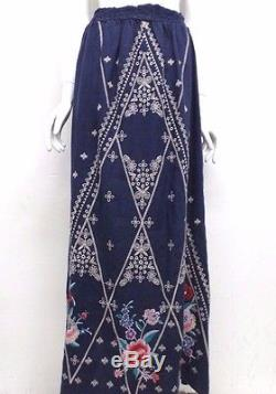 NWT Johnny Was JWLA Eliza Side Slit Linen Maxi Skirt XL JW35840717