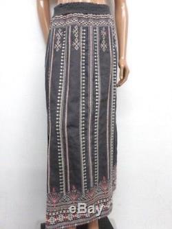 NWT Johnny Was JWLA Linen Calida Side Slit Skirt XXL OL13970818