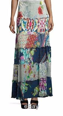 NWT Johnny Was Tiered Floral Maxi Skirt labeled XL Extra Large may fit XXL