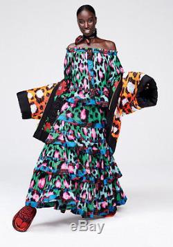 NWT Kenzo x H&M Chiffon Ruffle Maxi Leopard Print Skirt Size 6 SOLD OUT online