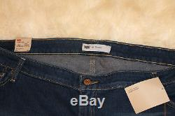 NWT LEVI 590 Bootcut dark long denim skirt maxi size 24 Womens
