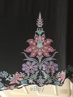 NWT LuLaRoe Small Black Floral Flower Maxi Skirt Dress Dipped Ombré