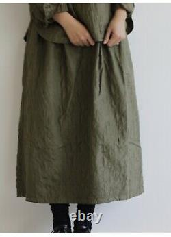 NWT Maison De Soil Japan Silk Cotton Quilted Maxi Skirt One Size Fits All