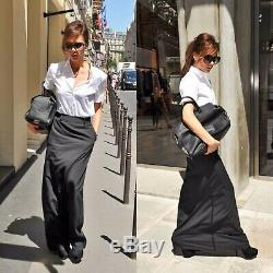 NWT Maison Martin Margiela IT42/US6 Authentic Black Wool Maxi Skirt, Pockets