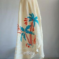 NWT Onia Small Amanda Palm Wrap Coverup Skirt Yellow Maxi Long Linen