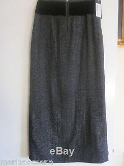 NWT RUNWAY DOLCE GABBANA LONG SKIRT DRESS MADE ITALY SIZE 40 BLACK GRAY COLOR