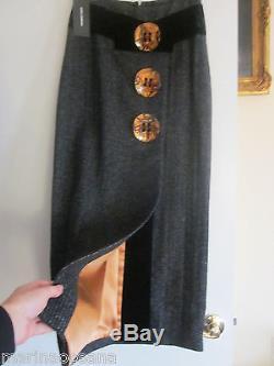 Nwt Runway Dolce Gabbana Long Skirt Dress Made Italy Size 40 Black Label