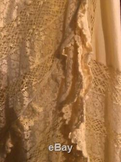 NWT Ralph Lauren Blue Label Skirt Yellow Cotton Lace 6 $998 Long Maxi