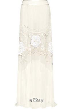 NWT Roberto Cavalli RUNWAY Embroidered Skirt 40/4