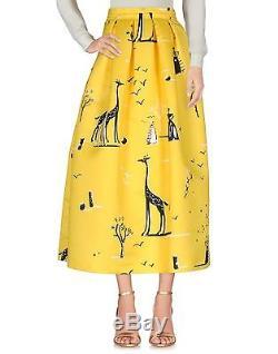 NWT Rochas Giraffe Print Maxi Skirt 40/4