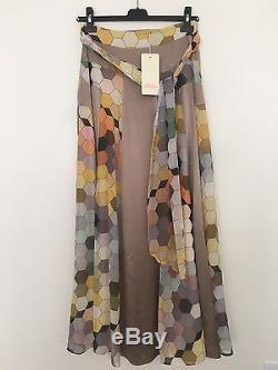 NWT Runway MATTHEW WILLIAMSON Silk Chiffon Maxi Skirt Sz 8 UK $2070