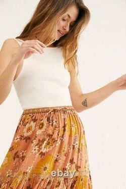 NWT SPELL & THE GYPSY COLLECTIVE Sz S BUTTERCUP MAXI SKIRT IN SUNSET