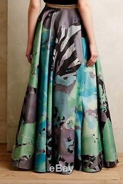 Nwt Sz 6 Anthropologie Pintura Maxi Ball Skirt Geisha Designs Fabulous Standout