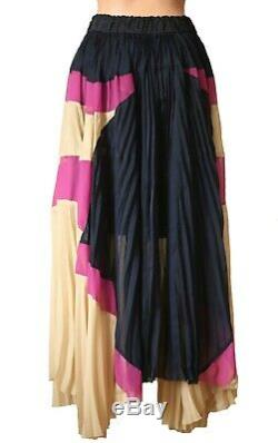 NWT Sacai Pleated Maxi Long Skirt Chiffon Asymmetric 3 Medium US 4-6-8