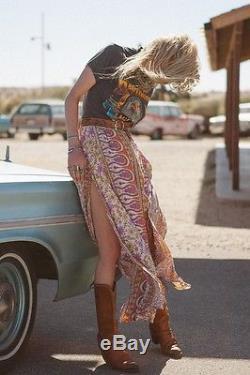 NWT Spell & The Gypsy Boho Blossom Maxi Skirt XS Rare Designs Collective Saffron