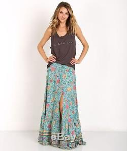 NWT Spell & The Gypsy Turquoise Button Down Folk Town Maxi Skirt XSmall