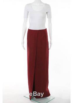 NWT THE ROW Silk Crimson Organza Maxi Skirt Sz 2 $2090 3537
