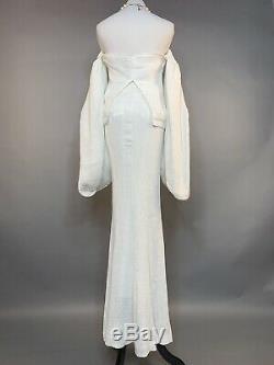 NWT White Blossom Drape Top / Mermaid Skirt Dress ONE SET Wedding Formal Parties