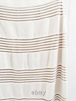 NWT Zimmermann Corsage Linear Skirt White Linen Peplum High waisted Midi 2