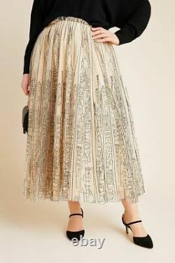NWT new Anthropologie Cityscape Tulle Maxi Skirt size 3X plus size