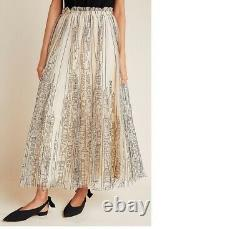 NWT new Anthropologie Cityscape Tulle Maxi Skirt size M
