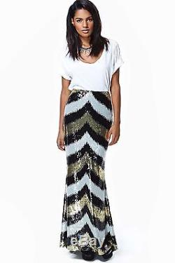 Nasty Gal Women's Black Party Doll Sequin Maxi Skirt