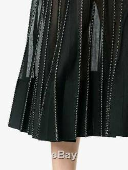New $2,627 Alexander McQueen Embroidered Dress Maxi Skirt US 4 6 IT 40 42 Small