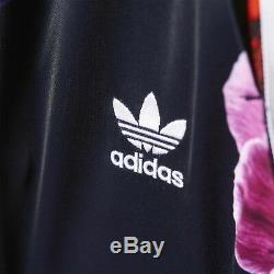 New Adidas Originals Floral Print Long Maxi 3-stripe Pockets Skirt Trefoil pant