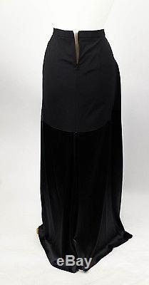 New. BRUNELLO CUCINELLI Black Silk Blend Maxi Skirt Size 6/42 $1280