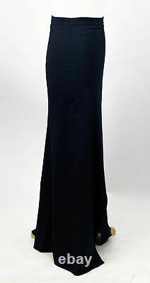 New. BRUNELLO CUCINELLI Blue Wool Blend Maxi Skirt Size 8/44 $1105