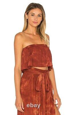 New Blue Life Revolve Planet Maxi Wrap Skirt Crop Top Stunning Msrp $251