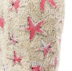 New DRIES VAN NOTEN SS18 runway gold eyelash fluffy pink star long skirt FR38