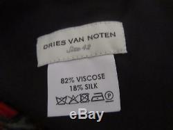 New Dries Van Noten Siuna Marble Geometric Print Velvet Maxi Skirt RRP £1285