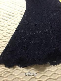 New EMILIO PUCCI Navy Blue Lace Floral Maxi Long High Waist Dress Skirt US 10