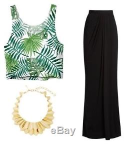 New Fab Alexander McQueen Black Maxi Draped Skirt, IT42
