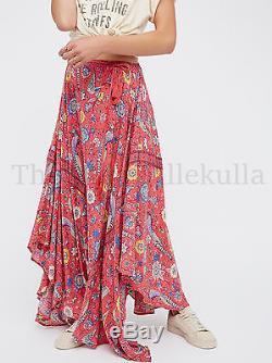 New Free People Gypsy Lovebird Half Moon Maxi Skirt Size Large /Sold Out