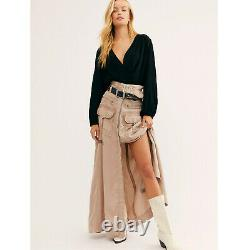 New Free People The Feeling Of Falling Utility Skirt (S)