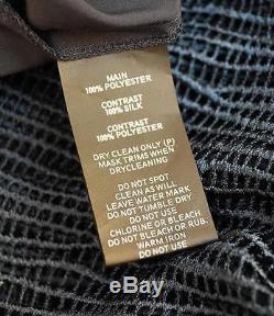 New GINGER & SMART Endless Teal Blue Crepe Silk Mesh Panel Combo Maxi Skirt AU6