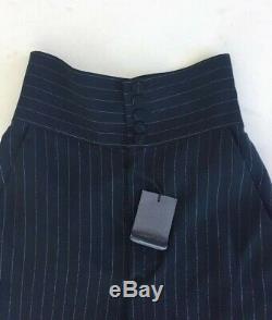 New Jean Paul Gaultier Paris Maxi Long Skirt Black White Stripes EU40